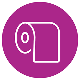 Toilette paper roll icon