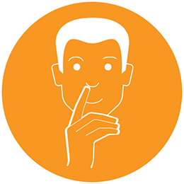 Man touching nose icon