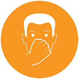 Man covering mouth icon