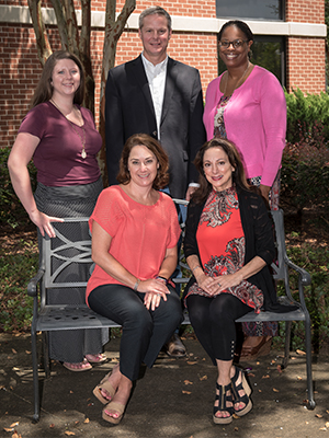 Center for Advancement of Youth leaders involved in Food for Thought include, seated, from left, Jennifer Curtis and medical director Dr. Susan Buttross; and standing, Dr. Barbara Saunders, Elkin and Veronnica McDuffey Taylor.