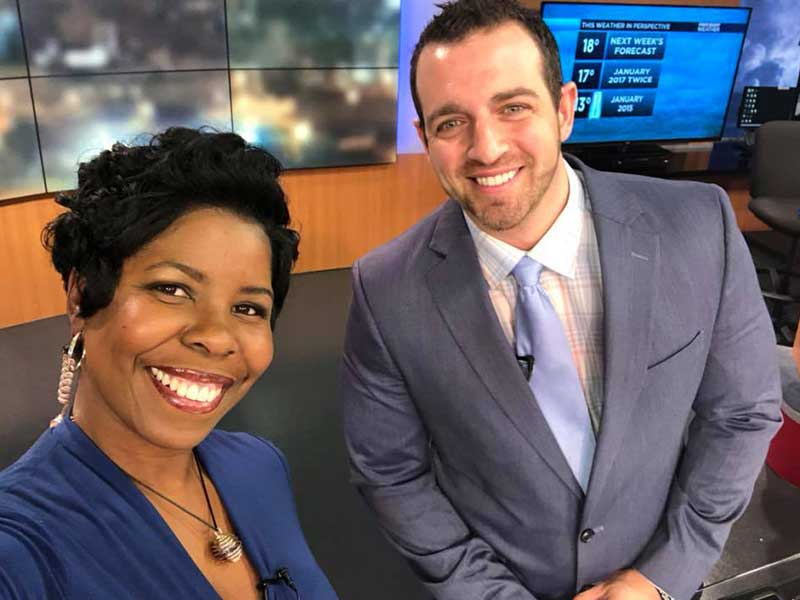 Sands, right, and Melissa Faith Payne anchor the 9 p.m. WLBT-Fox 40 newscast.