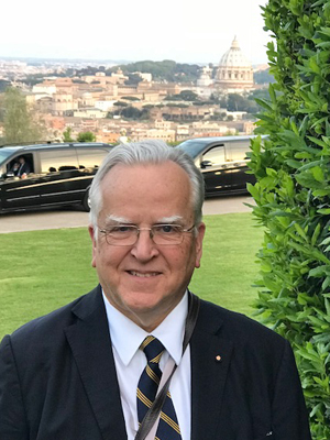 Ruckdeschel arrives for the Fourth International Vatican Conference in Rome.