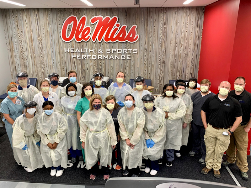 Volunteers from across helped University of Mississippi athletes prepare for the upcoming season by testing for COVID-19 infections and antibodies.