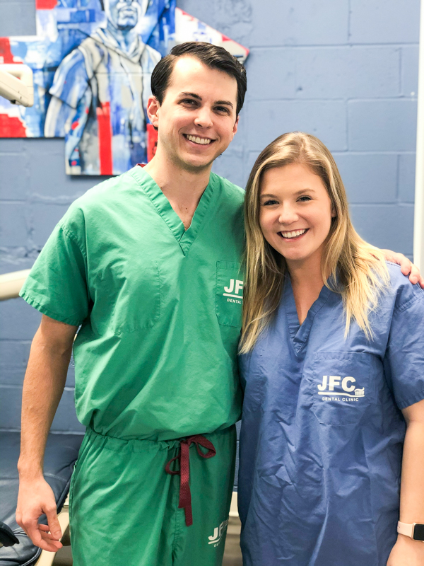Fourth-year dental students Collin Peterson and Katelyn Allen are co-directors of the dental services at the Jackson Free Clinic.
