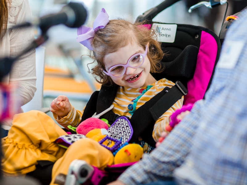 Anna Benton Coleman of Madison smiles during the first day of the Mississippi Miracles Radiothon.