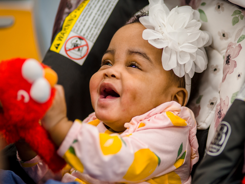 Among the first babies to move into the neonatal intensive care floors of the Kathy and Joe Sanderson Tower at Children's of Mississippi, Lyndsey Lee Carter is happy and healthy.