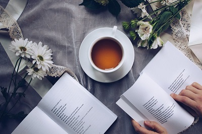 Book and a cup of tea