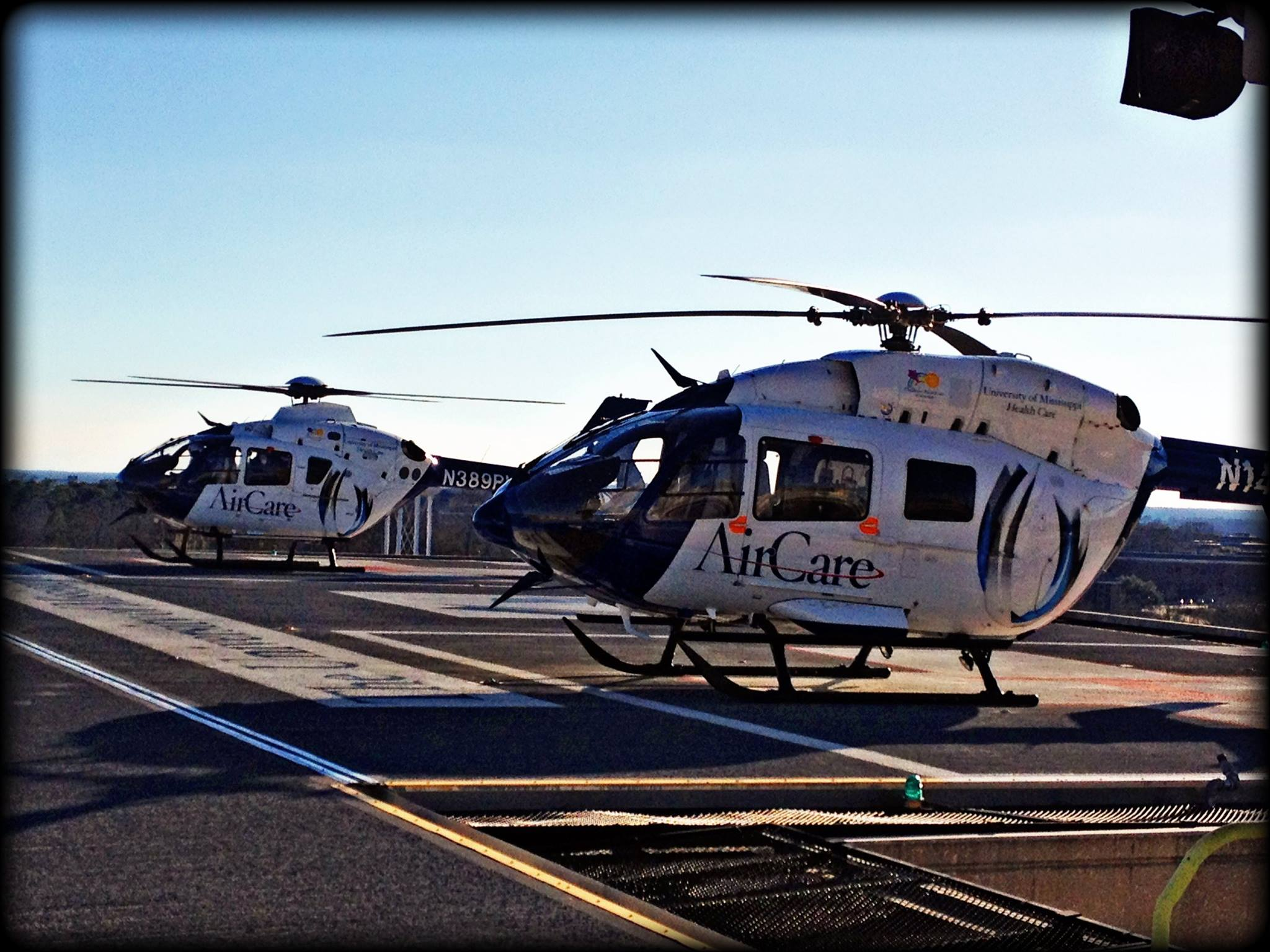 AirCare 1 and AirCare 2 on the deck at UMMC