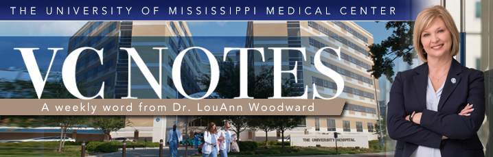 VC Notes - A weekly word from Dr. LouAnn Woodward