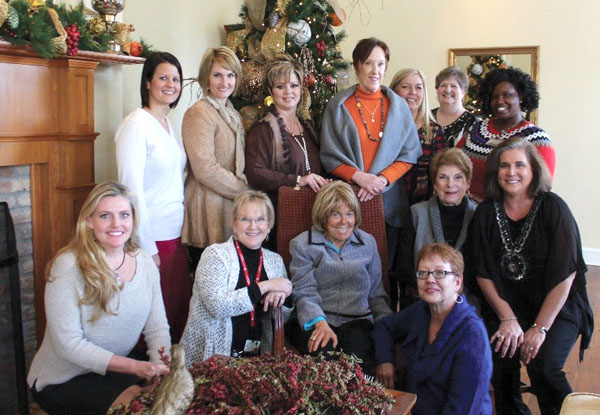 Dental hygiene faculty and staff enjoy socializing during the holidays.