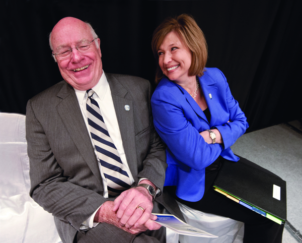 Before taking over as vice chancellor, Dr. LouAnn Woodward relied on the mentorship, and friendship, of her predecessor, the man who led the Medical Center for more than five years, Dr. James Keeton.