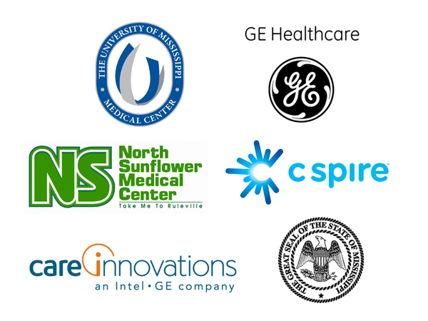 Network partners: UMMC, GE Healthcare, North Sunflower Medical Center, C Spire, Intel-GE Care Innovations and the State of Mississippi
