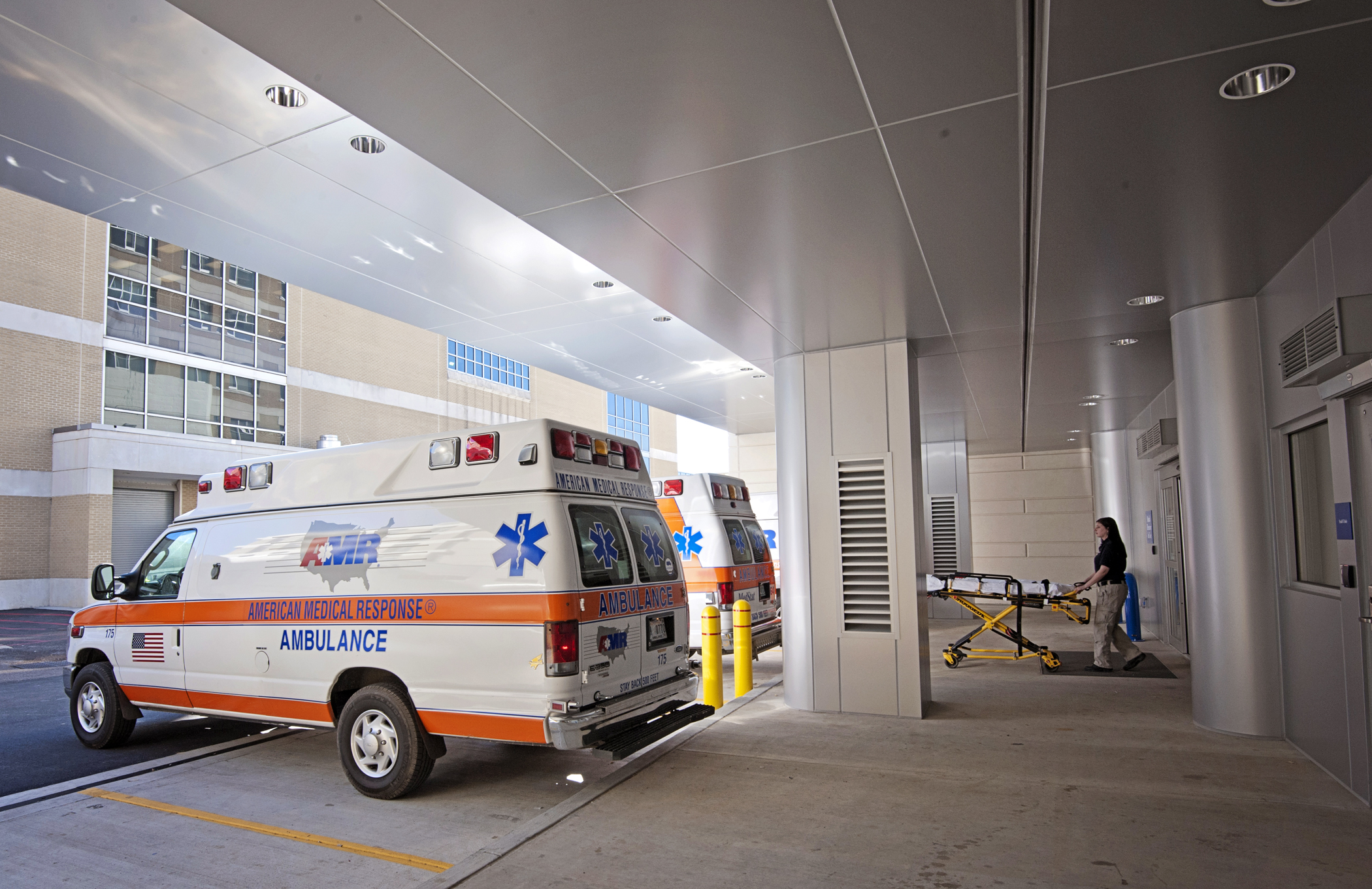 American Medical Response (AMR) ambulances