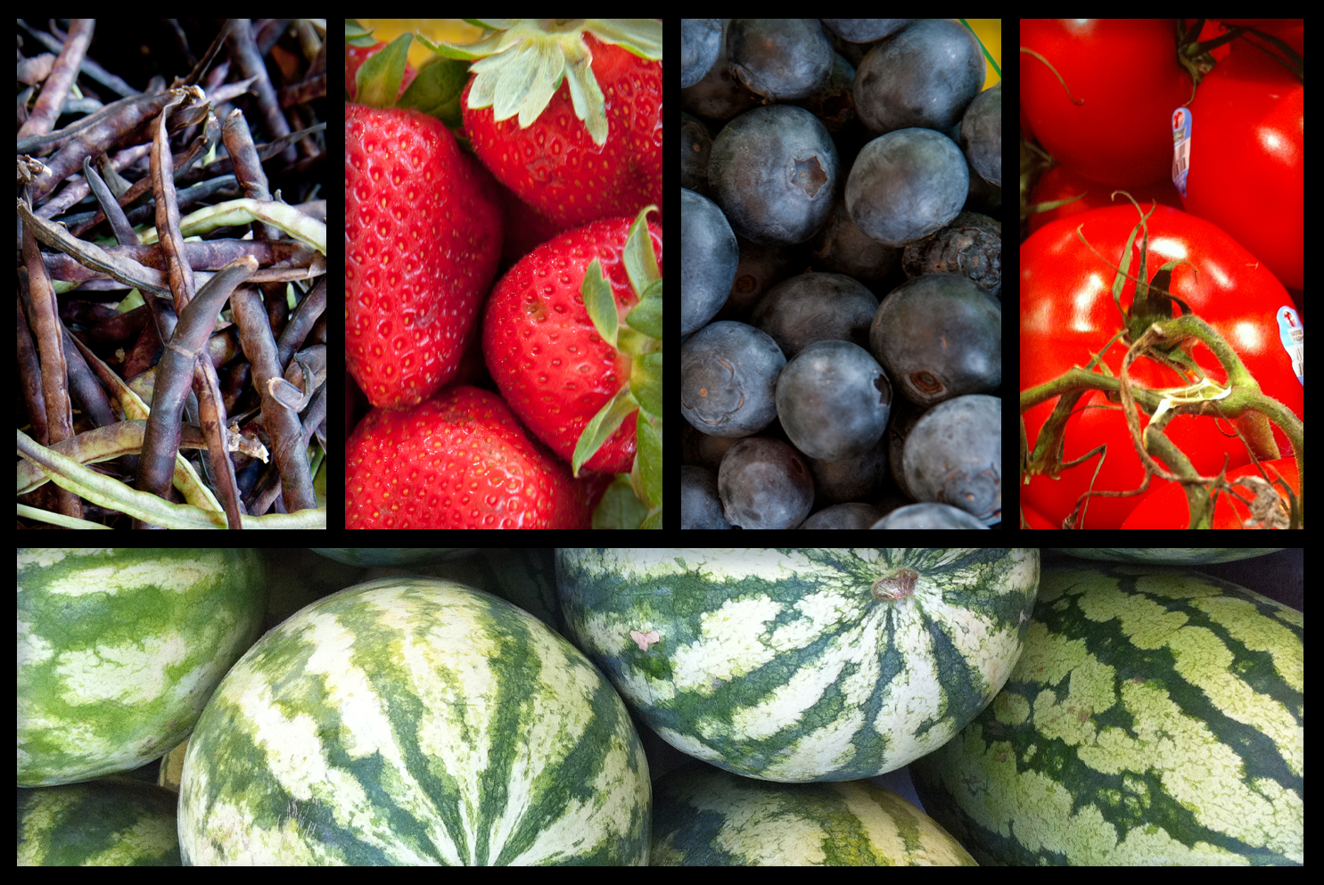 Fresh blueberries and tomatoes rich in antioxidants, naturally sweet strawberries and watermelon laden with fiber, and beans and peas with lots of vitamins and minerals are among fruits and vegetables available now at local Farmer's Markets.