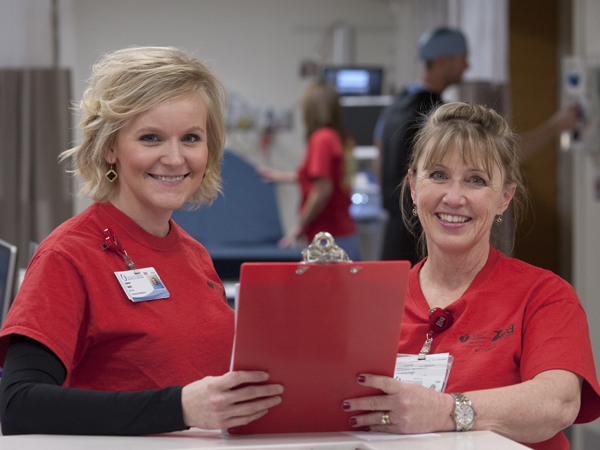 University Heart staff members (l to r) Lauren Smith and Deborah Ward