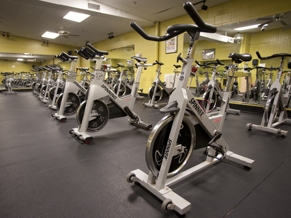 Plenty of bikes available for spinning classes at the Courthouse - Flowood.