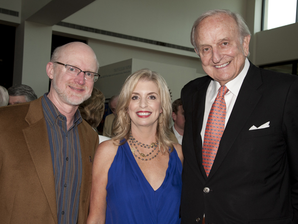 Mosley, Patricia McClure and Palmer during the pre-concert sponsor party