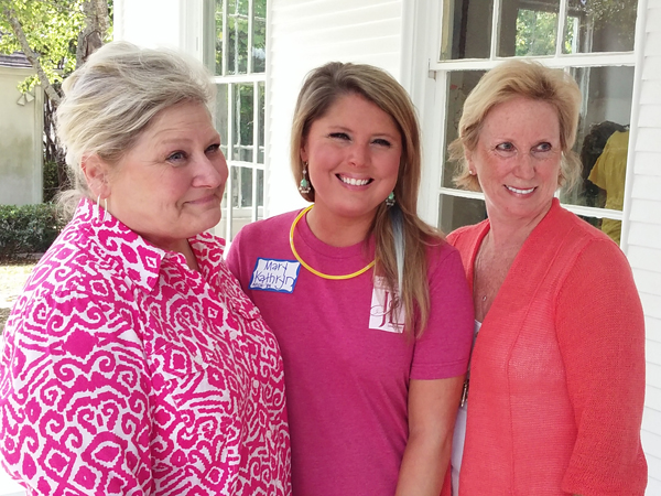 Pictured from the left are Kathy Christian, Mary Kathryn Christian Rainey and Melissa Ridgway.