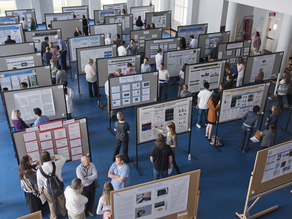 View of activities during the poster presentation during the School of Graduate Studies Research Day 2015