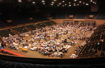 To meet the health-care needs of hurricane evacuees in the Red Cross shelter at the Mississippi Coliseum.
