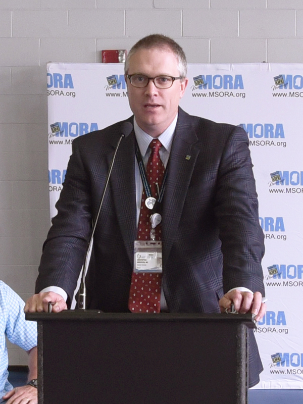 UMMC transplant surgeon and Department of Surgery chair Dr. Chris Anderson asks organ recipients and donor families to spread the word about the need for organ donation.