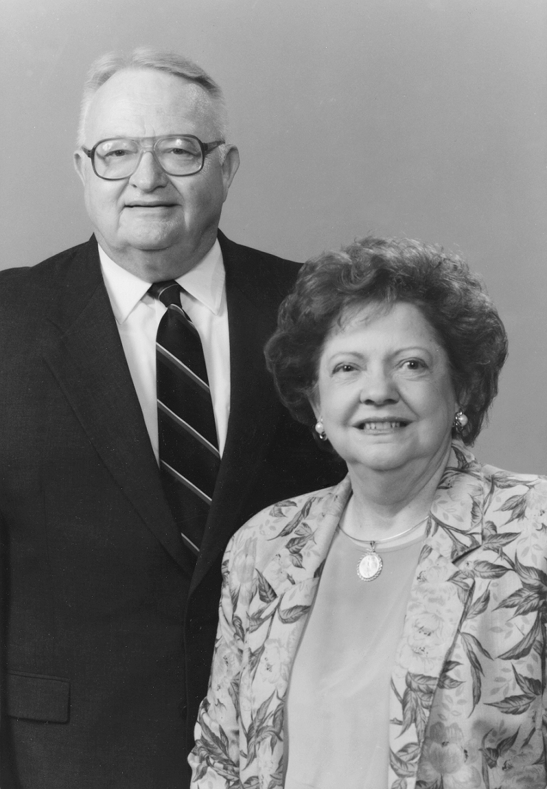 Nelson with his bride of 61 years, Annie Lee