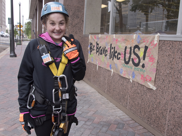 Did it! Leukemia survivor Mary Ellis Cravey, a Madison eighth-grader, is ready to go again next year.