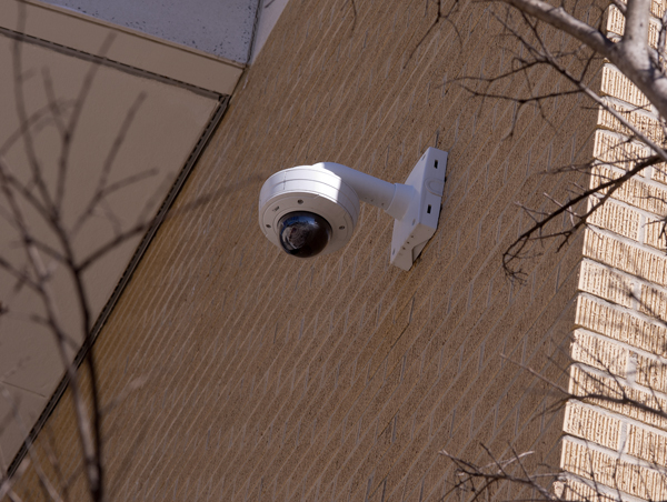 Security cameras are mounted at all entrances into the Medical Center.