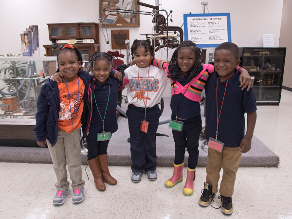Johnson Elementary Pre-K students, from left, Layla Walls, Miley Thomas, Asia Rouser, London Johnson and Marquavius Brown say they want to return to the school one day to become dentists.