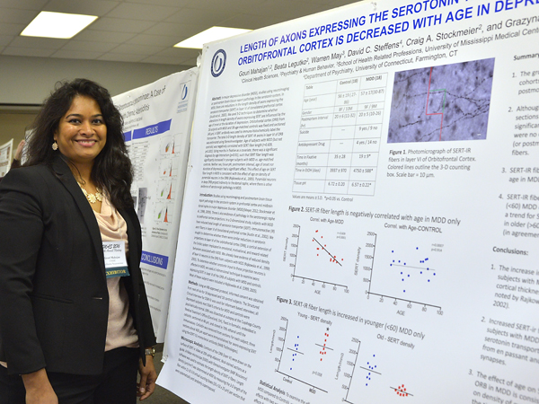 Mahajan won the INBRE graduate student poster award for her work on axon length changes in depression.