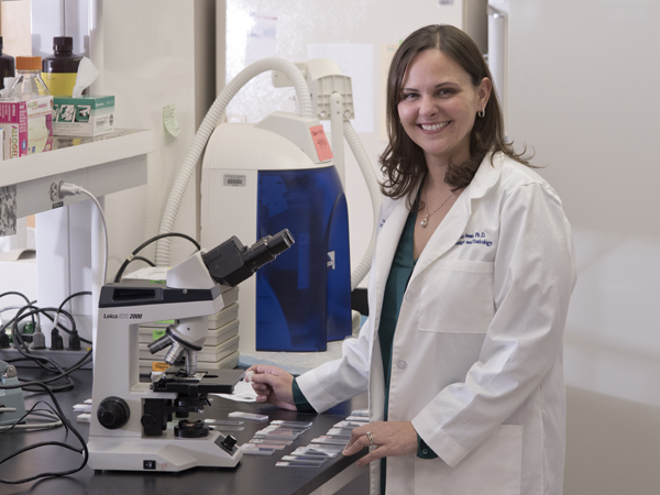 Dr. Jenny Sasser, assistant professor of pharmacology, is testing sildenafil (sold commercially as Viagra) as a treatment for preeclampsia.