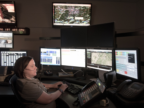 University of Mississippi Medical Center communications specialist/paramedic Amy Shook will help direct ambulance traffic in the event of a mass casualty shooting.