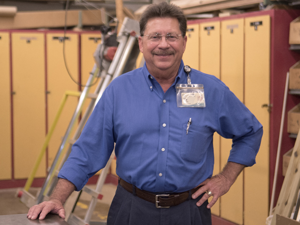 Randy Hudson is UMMC carpentry shop supervisor.