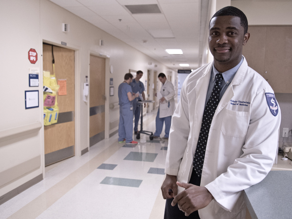 Nicholas Chamberlain of Jackson, who finishes medical school in May,  discovered his passion for medicine through his own family's experiences with illness.