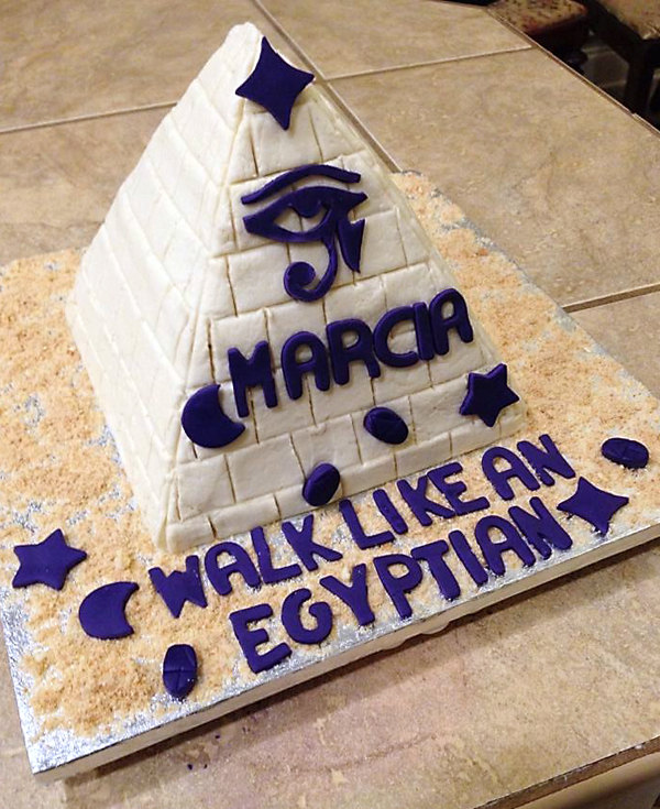 The infamous pyramid cake was saved, thanks to a birthday at the School of Nursing.