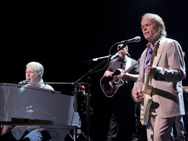 Wilson, at piano, and fellow Beach Boy Al Jardine