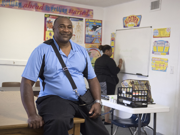Battle is seeking his GED at the Prosperity Center of Greater Jackson.