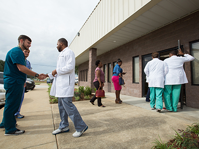 More than 200 guests packed the new UMMC Community Care Clinic August 29 for a ceremonial ribbon cutting.