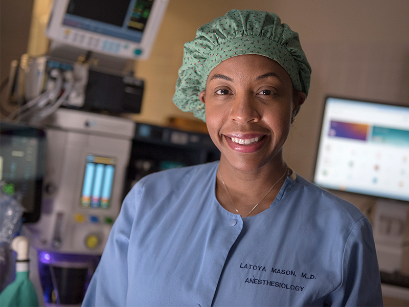 Dr. LaToya Mason Bolden is associate professor of anesthesiology and former Mississippi's Junior Miss.