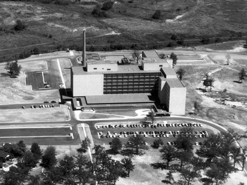 The University of Mississippi Medical Center and the UM School of Medicine as it looked shortly after opening in 1955.