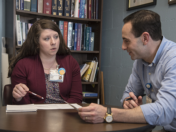 Dr. Omar Rahman, professor of pediatric genetics and vice chair of faculty development for the Department of Pediatrics, regularly mentors young faculty members including Dr. Barbara Saunders, assistant professor of pediatrics.