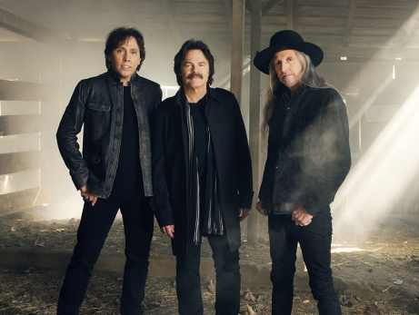 The Doobie Brothers' current touring lineup includes, from left, John McFee, Tom Johnston and Patrick Simmons. (Photo credit: Andrew Macpherson)