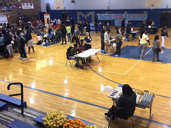SON faculty and students host a health fair at Murrah High School.