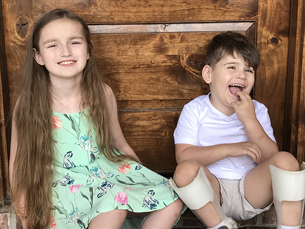 Siblings Caroline and Luke Puckett have both needed expert care at Batson Children's Hospital.