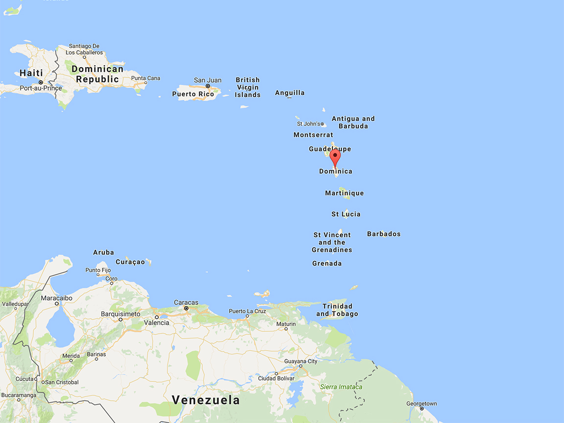 Dominica is located north of Venezuela and southeast of Puerto Rico