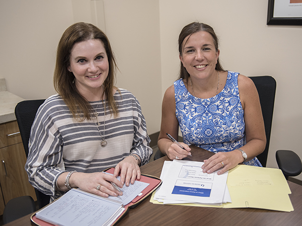 Adrienne Murray, left, and Dr. Lisa Didion are co-directors of the new Office of Patient Experience.