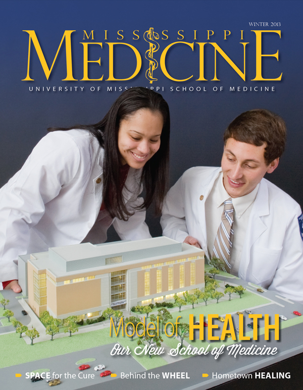 Moore was a first-year medical student when she and fellow M1 Andrew Brown appeared on the cover of the Winter 2013 issue of Mississippi Medicine.