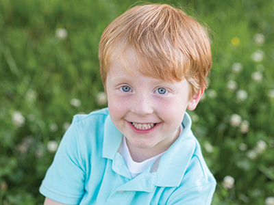 Cayson Sanderford is the first hypoplastic left heart syndrome patient to have had all surgeries at Batson Children's Hospital.
