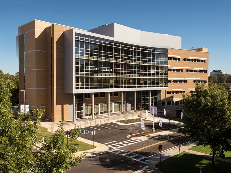UMMC's new 124,852 square-foot building will be the home of the Gertrude C. Ford MIND Research Center, Neuro Institute, John D. Bower School of Population Health and business incubator space.