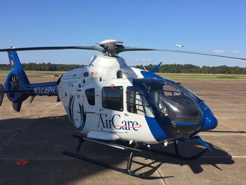 AirCare 4, the newest addition to the AirCare medical helicopter transport, is based in Greenwood.